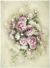 Rice paper -bouquet of peony- for Decoupage Scrapbooking Sheets Craft
