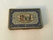Vintage Beautiful Egyptian Revival Sterling Siver Box W/Hinged Lid