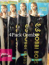 [4PACKS] Bobbi Boss 100% Kanekalon Jumbo Braid Braiding Hair Color Choose