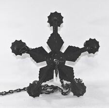Antique Art Deco Accurate Cast Ceiling Light Fixture Chandelier Gothic Black