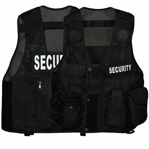 Black Tactical Vest Security, Enforcement, CCTV, Dog Handler, Press, Paramedic