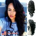 Natural Women Full Hair Long Curly Wavy Black Heat Resistant Copslay Party Wigs