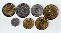 LOT MONNAIES FRANCS CFA 200, 100, 50, 25, 10, 5 et 1 FRANC 1977/2010 - FDC