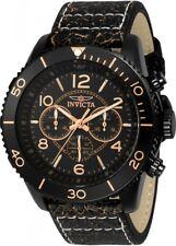 wachawant: Invicta 24554 Aviator Quartz 48mm Black Case Black Dial Men's Watch