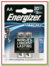 2 ENERGIZER Lithium AA Pile Batterie Litio ULTIMATE STILO !!!!SCADE 2035!!!!