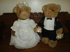 Vintage Gund Collectors Classic 1990 Bride & Groom Wedding 2 Bears Set with Tags
