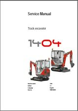 Wacker Neuson 1404 Track Excavator Service Repair & Parts Manual CD