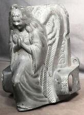 Antique Casket Coffin Trim Embossed Metal Kneeling Angel handle Mount Praying
