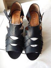 """Bureau UK 7 EU 40 cuir noir """"hauteur de la renommée"""" femme sandales-en boîte (2)"""