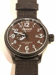 INGERSOLL APSLEY AUTOMATIC STAINLESS STEEL BROWN NYLON STRAP