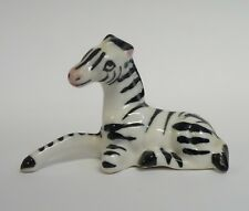 Vintage Zebra Bone China Dollhouse Miniature Figurine