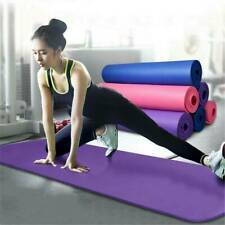 15mm Thick Yoga Mat Exercise Fitness Pad Pilates Camping Gym Strength Meditation