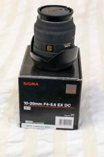 Sigma 10-20 wide angle lens (Sony A-Mount)