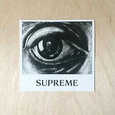 Supreme box logo eye sticker vinyl decal skateboard MC ESCHER bumper laptop art