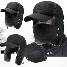 Men Women Winter Aviator Bomber Hat Trooper Ear Flap Ski Face Full Cover Cap
