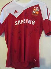 Swindon 2013-2014 squad signé maison chemise football Bnwt FLT lettre COA / 39538