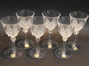 Set/6 Cristal DArque Durand France Crystal Florence Cordial Liqueur Shot Glasses