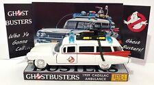 Jada 1959 CADILLAC AMBULANCE Ghostbusters ECTO-1 - 1:36 Model on Custom Display