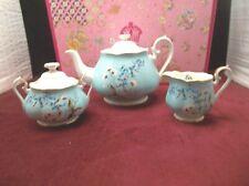 100 Years of Royal Albert 1950 Festival Teapot Set 3 PC Bone China Gold Trim