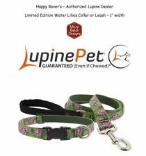 "Lupine Lifetime Guaranty Dog Leash or Collar -1""- Serene- Water Lilies"