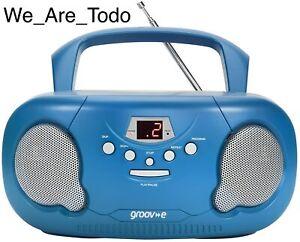Groov-e - GV-PS733-BE Original Boombox, Portable CD Player, Radio - Blue