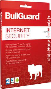 Bullguard Internet Security 3 PC 2021 / 2022  1 Jahr - Windows  / Mac / Key ESD