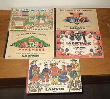"""Lot des 5 premiers albums images a coller Chocolat Lanvin """"France en image"""""""