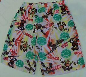 TMNT Teenage Mutant Ninja Turtle Sleep Shorts Sleepwear PJ  Short size 7