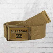 Billabong tissu ceinture Sergent Belt Beige Tissu Ceinture Webbing Belt Sable Kaki