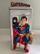 Rare Vintage Superman 1978 California Originals Phone Booth Ceramic Cookie Jar