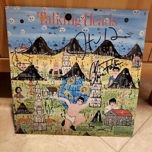 Talking Heads Signed LP Little Creatures 4 Musicians David Bryne 1985