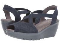 Skechers Jellyroll  Women's Parallel Navy Wedge Sandals Size 6.5M