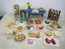 "DISHES, FOOD, MINIATURES FOR 11-1/2"" DOLLS, DOLLHOUSE OR COLLECTORS,  #2aa"
