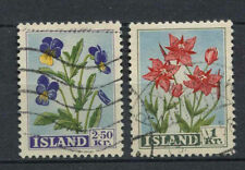 Flowers Used Icelandic Stamps