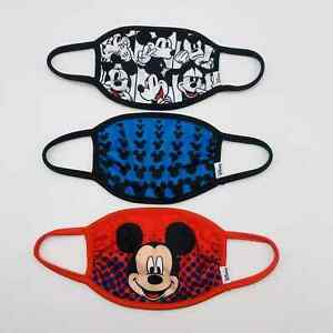 Disney Kids' 3pk 3 Pack Mickey Mouse Face Mask Children Ages 4+