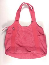 "Kipling ""Cicely"" Purse Red Tote Bag Medium Size No Monkey Keychain"
