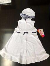 NWT Kate Mack Biscotti Navy White Beach Dress Coverup Size 7