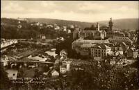 Weilburg Lahn Hessen Postkarte ~1920/30 Teilansicht Schloss und Lahnbrücke