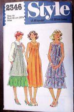 Style sewing pattern no. 2346 Ladies DRESS size 10  Vintage