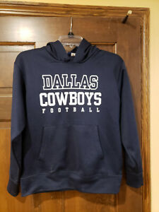 Kids Dallas Cowboys Authentic Hooded Sweatshirt Size M (12-14)
