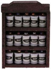 Spice RACK con spezie, DOLLS HOUSE miniatura cucina o shop Accessorio
