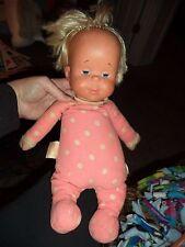 "Vintage 1964 Mattel DROWSY DOLL Talker Pink White Polka Dot 14"" Pull String"