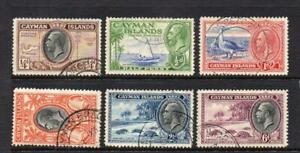 CAYMEN ISLS USED 1935-36 KGV PICTORIAL DEFINITIVE SELECTION