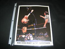 King Kong Bundy Wrestling Genuine Hand Signed Autographed Wwf 8X10 Photograph!