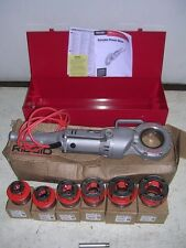 RIDGID 700 POWER PONY PIPE THREADER SIX 12R DIE HEADS 1/2-2 METAL CASE & MANUAL