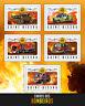 Guinea-Bissau 2016 MNH Fire Engines Trucks 5v M/S Transport Stamps