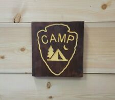 Camp Icon/Carved Rustic Wood Sign/Recreational/Cabin/Lodge/Décor/Camping/Outdoor