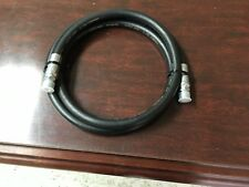 2 Foot 3/8 Inch 400 PSI Oil Resistant Rubber Air Hose Pigtail Whip 2 Male Pipes