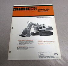 Case Poclain 300 Excavator Specifications Brochure Manual CE11881