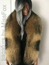 Finn raccoon fur collar stole. Extra quality